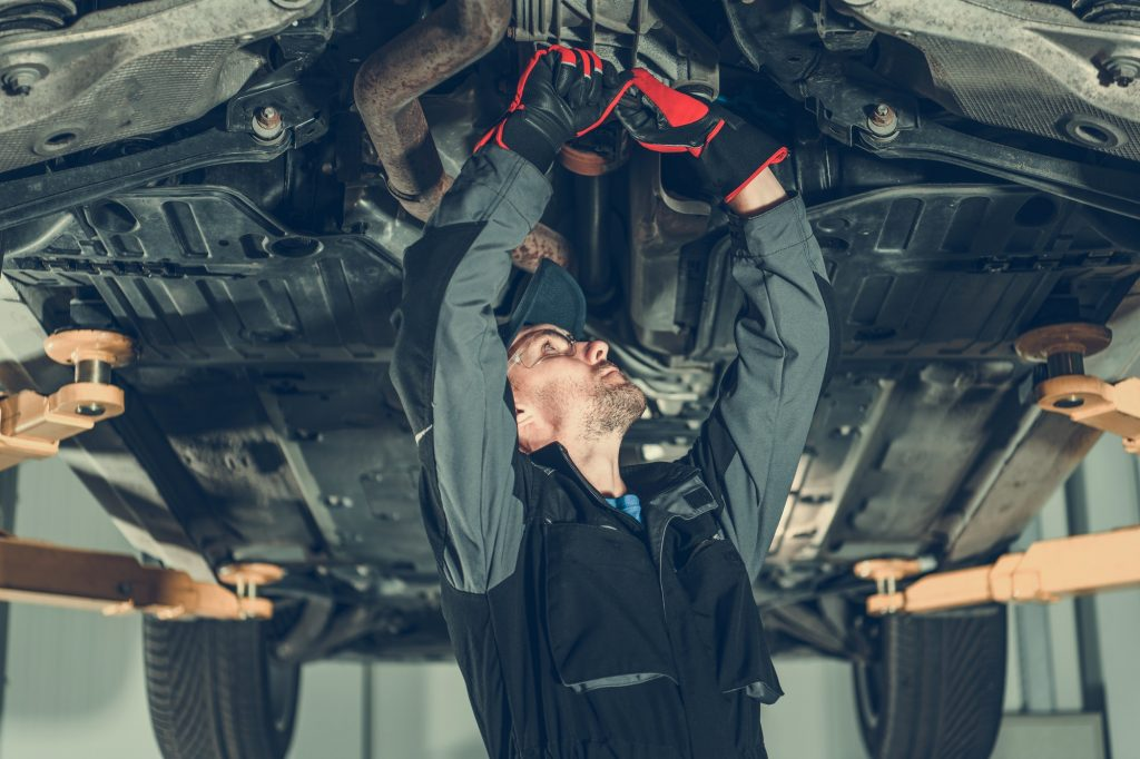 Car Mechanic Undercarriage